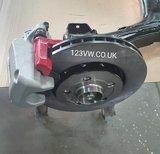 R32 Rear brake adapter kit golf 1,2,3 corrado caddy mk1_
