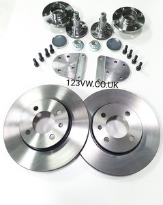 256x20mm 4x100 Rear brake adapter kit incl disc